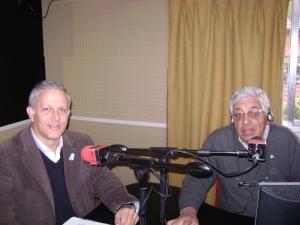 de izq. a der.: Luis Parodi y el conductor y periodista Luciano Sosa