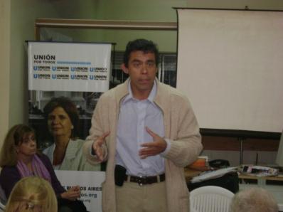 Lic. Matías Lobos, Pte. de Unión por Todos Provincia de Buenos Aires