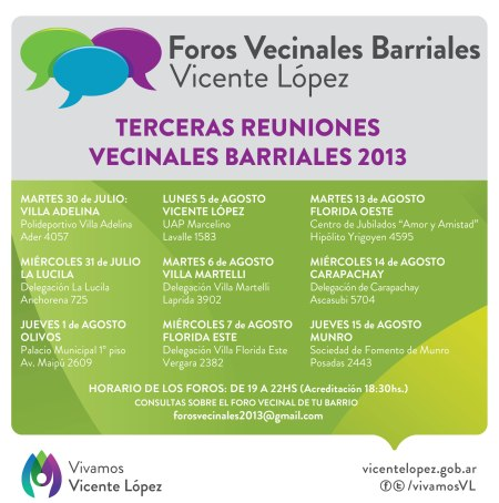 Foros Vecinales Barriales 2013