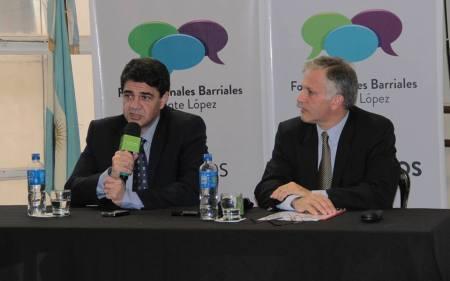 de izq. a der.: Intendente Jorge Macri y Subsecretario Luis Parodi